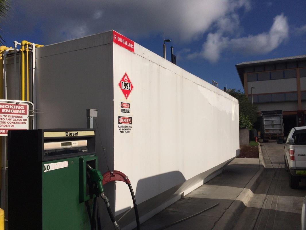 Diesel Concrete Tank Paint Removal Gar Waterblasting In